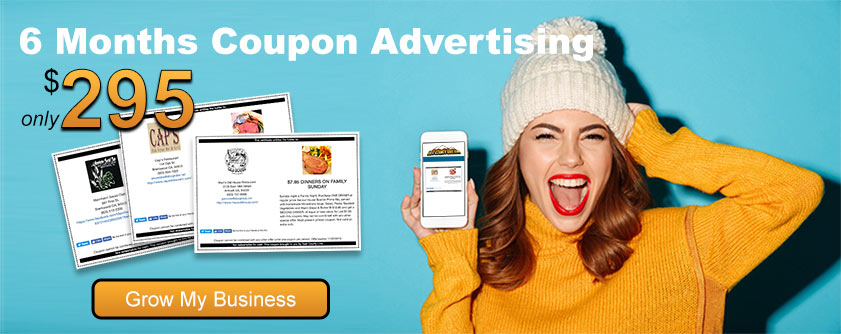 6 Months Coupon Advertising $295